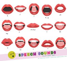 Various mouth forms depicting common speech sounds. Perfect for speech language… art, Speech Sounds Mouth Clip Art Set Articulation Therapy, Articulation Activities, Speech Activities, Speech Pathology, Speech Language Pathology, Speech Therapy Activities, Speech And Language, Phonics, Apraxia