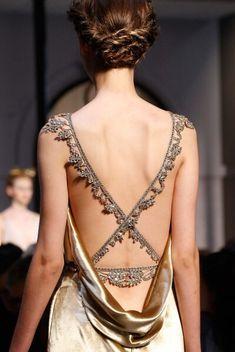 Detail at Schiaparelli Fall 2015-16 Couture.