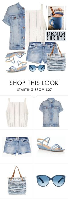 """The Final Cut: Denim Shorts"" by rasa-j ❤ liked on Polyvore featuring Topshop, Current/Elliott, Talbots, New Look, jeanshorts, denimshorts and cutoffs"