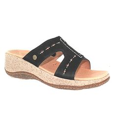 ACRON Womens Vista Slide Wedge SandalBlack10 M US * Click on the image for additional details.(This is an Amazon affiliate link and I receive a commission for the sales)