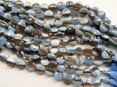 Boulder Opal Faceted Coin Beads Boulder Opal by gemsforjewels