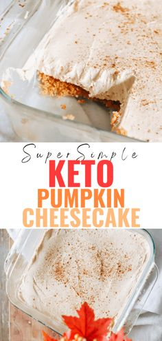 This super simple keto pumpkin cheesecake recipe is no-bake and ready in 10 minutes. Delicious pumpkin spice flavours while being low carb! A sugar free, scrumptious fall and Thanksgiving dessert! Raw Food Recipes, Low Carb Recipes, Dessert Recipes, Healthy Recipes, Desserts, Pumpkin Cheesecake Recipes, Gluten Free Cheesecake, Balanced Life, Top Trending