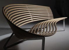 Leda Seat Seating by Jon Goulder  May 30th, 2010 - Posted in Home Furniture  This is design with Sculptural seating. created with the correct ergonomic comfort. and can be used as indoor and outdoor furniture. This design consists of a single sheet of CNC cut birch plywood (plantation-grown), aluminum frame. Leda Seat Seating is manufactured by Woodmark International.Design and prototype Jon Goulder