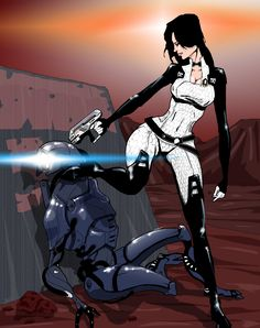 Geth Execution image - Mass Effect Fan Group Mass Effect Miranda, Mass Effect 1, Mass Effect Universe, Miranda Lawson, Canvas Poster, Poster Prints, Fabric Painting, Spray Painting, Sci Fi Art