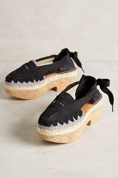 Naguisa Beribboned Clogs - anthropologie.com