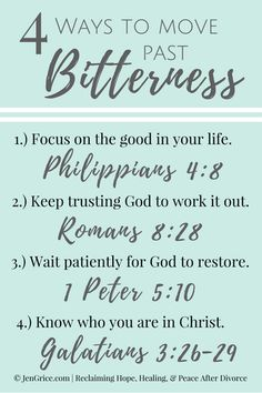 Do you struggle with bitterness? But want to live in peace? Let's see what the Word of God says about how to move past it.