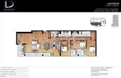 condo 2D color floor plan