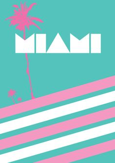 80's Miami Poster by SleazySalad