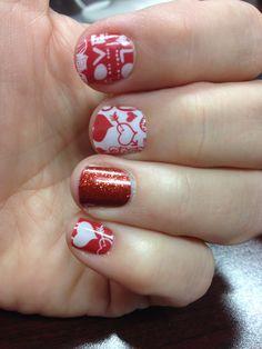My Valentine Jamberry nails! www.glamtipsandtoes.jamberrynails.net