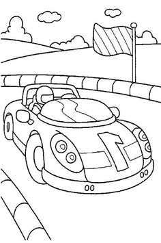 How To Draw Race Car Coloring Pages For Children