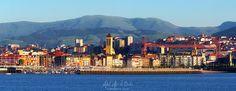 Panorámica de Las Arenas, #Getxo Hoy tocaba postal :-P #Bizkaia #Euiskadi #BasqueCountry