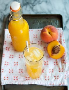 Summer Recipe:  Fresh Peach Soda  / Recipes from The Kitchn