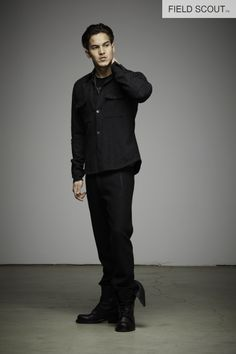 BD106-BLACK-JOINTED SHIRT  // FT108-BLACK- CONDUCTOR TROUSER