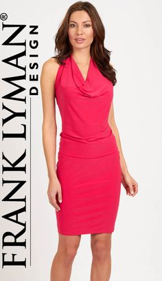 Cowl neck knit dress by Frank Lyman Design ~ mirellas.ca