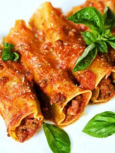 Recette de Cannelloni au boeuf et à la tomate                                                                                                                                                                                 Plus