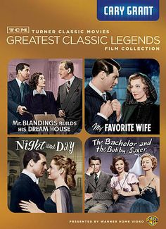 TCM Greatest Classic Films: Legends - Cary Grant: My Favorite Wife / Night And Day / The Bachelor And The Bobby-Soxer / Mr. Blandings Builds His Dream House. Cary Grant - they don't make many like him anymore. Turner Classic Movies, Classic Films, Harry Davenport, Louise Beavers, Will Wright, Jane Wyman, Irene Dunne, Myrna Loy, Cary Grant