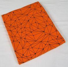 Dresówka pętelka Geometric: Orange Premium 270g/m2