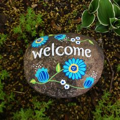 """Welcome"" Rocks by Bonnie McCusker"