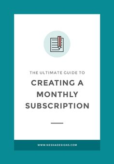 Want to earn a fixed, consistent income every month? Start a monthly subscription! Click through to read the ultimate guide to creating a monthly subscription & learn what you can sell monthly and how to set it up.