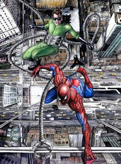 """Spider-man vs. Doctor Octopus: """"Tables Turned"""" by Eric W. Meador"""