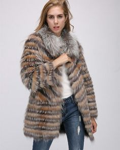 fox fur coat,red fox ,silver fox .US$290.Better price and more information ,please contact us .eileenhou.lvcomeff