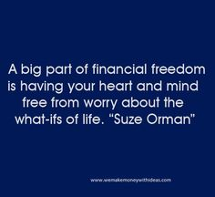 A big part of financial freedom
