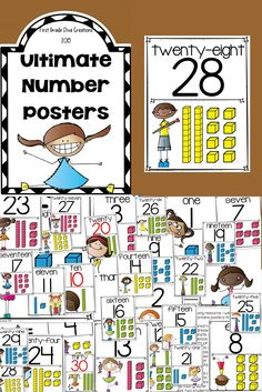 $ These math posters are a simple addition to your math resources. Don't be fooled by their simplicity! You will find yourself printing multiple copies for different uses in your classroom! I have also included a greater than, less than, and equal poster to add to their usefulness.