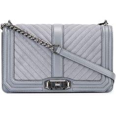 Rebecca Minkoff quilted crossbody bag (19.505 RUB) ❤ liked on Polyvore featuring bags, handbags, shoulder bags, grey, crossbody shoulder bag, gray leather handbags, gray leather purse, leather handbags and rebecca minkoff crossbody