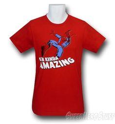 "Spiderman ""I'm Kinda Amazing"" 30 Single T-Shirt @ Superhero Stuff, $21.99"