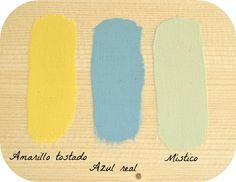 Combinar colores con la chalk paint Color Paredes Salon, Chalk Design, Yellow Submarine, Chalk Paint, Home Deco, Room Decor, Diy, Painting, Alice