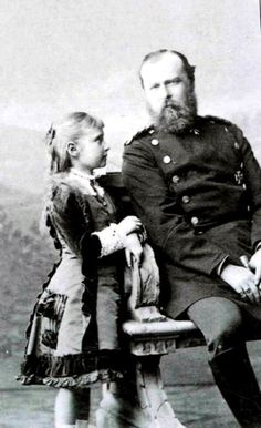 Princess Alix with her father Louis IV, Grand Duke of Hesse and by Rhine