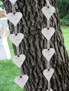Hanging Heart Themed Seating Plan by Lapa On Vaal Hanging Hearts, Wedding Decorations, Inspiration, Biblical Inspiration, Wedding Decor, Inspirational, Inhalation