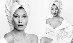 Bella Hadid wows in Mario Testino's famed Towel Series