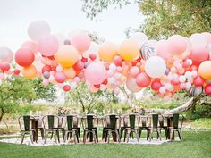 Balloon arch at wedding #streetstyle #streetstylebride