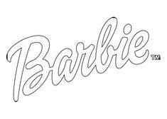 barbie logo coloring pages | Barbie svg Barbie logo svg Barbie silhouette Barbie | Barbie