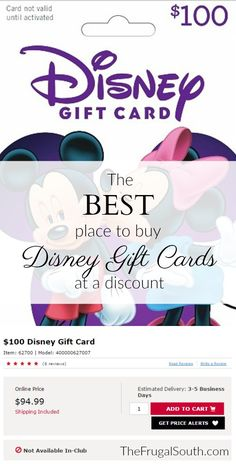 Here's my #1 source for discounted Disney gift cards - save 5-15% off your Disney vacation when you pay with gift cards bought at a discount! An easy way to cut some costs associated with a trip to Disney World.