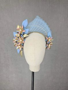 MBM2310 – Millinery By Mel Blush And Gold, Leather Design, Gold Leather, All Design