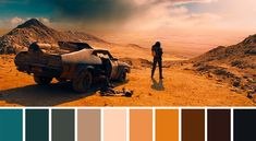 50 Iconic Films and Their Color Palettes - Mad Max: Fury Road