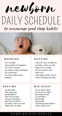 Get your newborn baby on a simple schedule from the day you bring them home. Having a routine for your newborn will help to establish good sleeping habits so that you can avoid sleep training in the future. baby tips Newborn Daily Schedule Baby Schlafplan, Baby Kind, Baby Birth, Baby Momma, Baby Gender, Mom And Baby, The Babys, Baby Life Hacks, Mom Hacks