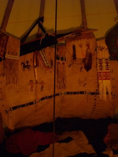 cheyenne style ca 1820-1840 - copyright : www.redstar-tradingpost.com  In a tipi tent