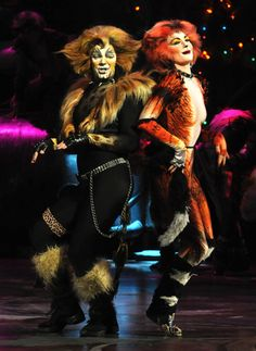 CATS - Broadway Musical in New York City-Winter Garden Theater. I made the tails and collars for it....and several of the unitards, most notably Macavity and those BEETLE hats with the vegetable steamer eyeglasses - whoa! not to mention...ok - i won't mention...