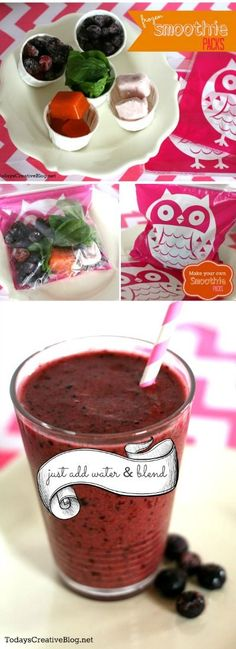 Frozen Smoothie Packs | Making smoothies just got faster! Great on the go breakfast idea. quick breakfast idea.