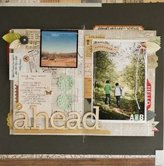 @gluestickgirl. Love how it looks like a scrapbook page on a layout.