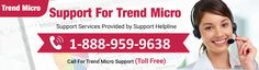 Trend Micro Antivirus Support Number 1-888-959-9638 Trend Micro Helpline Number . If you are facing any issues related this antivirus you can visit our website or call our toll free number. Issues as like installation, update, pop up, product key etc. if your antivirus is take more time to scan your system and by default update so don't wary you call just one call our technician will shut down your issue very simple way.