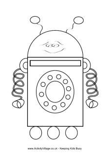 Robot Colouring Pages