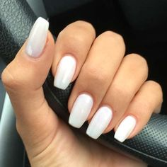 Best Acrylic Nails for 2017 - 54 Trending Acrylic Nail Designs - Best Nail Art - White Acrylic Nails - Acrylic Nail Shapes, Simple Acrylic Nails, Best Acrylic Nails, Acrylic Nail Art, Acrylic Nail Designs, Simple Nails, Perfect Nails, Gorgeous Nails, Nagel Gel