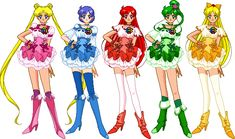 Outfits *LadyLexyRose (Characters (c) Naoko Takeuchi.) (Dolls (c) ~SSMU) Cure inners Sailor Moon Art, Sailor Jupiter, Sailor Moon Crystal, Manga Art, Anime Art, Neo Queen Serenity, Glitter Force, Sailor Scouts, Pretty Cure