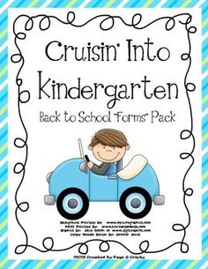 Ready to cruise in to the new school year with ease?  This pack makes your back to school planning less stressful! You get 9 useful forms including transportation, class directory release, volunteer sign up, discipline plan (plan instructions, parent letter, and student behavior reporting form), quick reference guide for parents, and more.