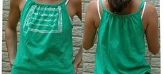 Quick and easy tank from a boxy tee #clothingreincarnation