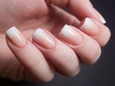 White tipped Gradient Nails